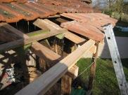 … das Dach verlängert …